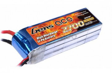 B-25C-2700-3S1P Gens ace 2700mAh 11.1V 25C 3S1P Lipo Battery Pack with XT60 Plug for DJI Phantom