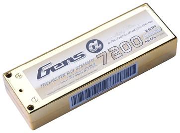 B-70C-7200-2S1P-H Gens Ace 7200mAh 7.4V 70C 2S1P