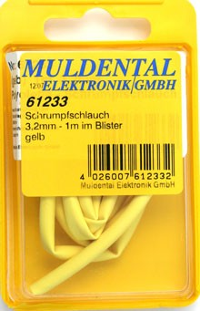 Termoretraibile, yellow, 4,8 mm, ratio: 2:1, 1 m CW61243