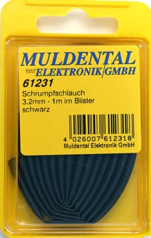 Termoretraibile, black, 9,5 mm, ratio: 2:1, 1 m CW61261