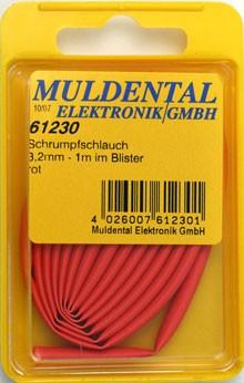 Termoretraibile, red, 19,0 mm, ratio: 2:1, 1 m CW61280