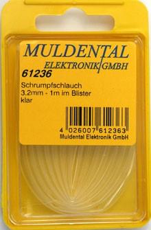 Termoretraibile, clear, 19,0 mm, ratio: 2:1, 1 m CW61286