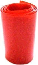 1 metro termoretraibile rosso traspar larghezza 68mm piatto CW64000