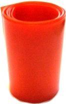 1 metro termoretraibile rosso traspar larghezza 37mm piatto CW64240