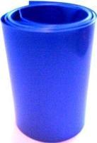 1 metro termoretraibile blu larghezza 95mm piatto CW64600