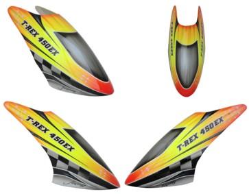 FUC-TX435EX FUSUNO Complete New Design ALPINE Airbrush Fiberglass Canopy 450 EX