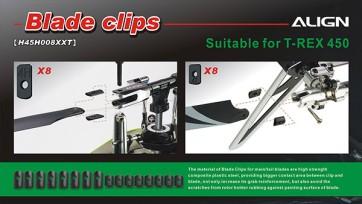 H45H008XX 450 Blade Clips