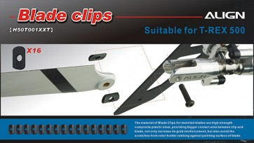 H50T001XX 500 Tail Blade Clips