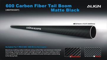 H60T003XX 600 Carbon Fiber Tail Boom-Matte Black
