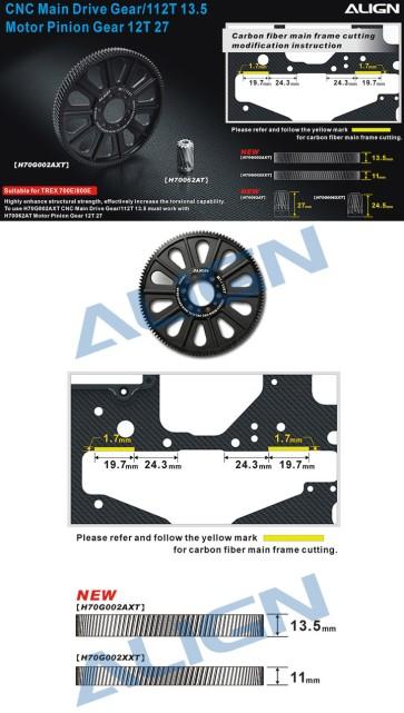 H70G002AX CNC Slant Thread Main Drive Gear/112T