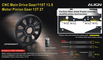 H70G008AX CNC Slant Thread Main Drive Gear/110T