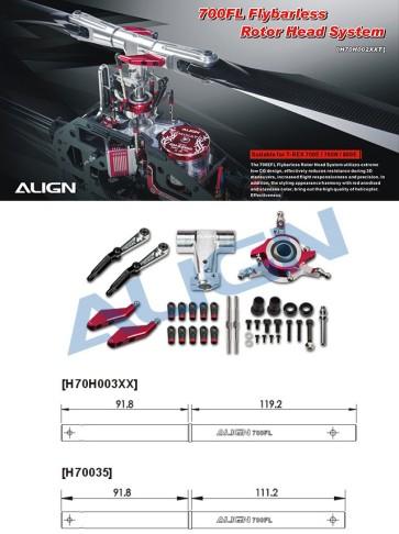 H70H002XX 700FL Flybarless Rotor Head System