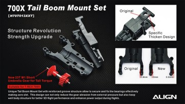 H70T013XX 700X Tail Boom Mount Set
