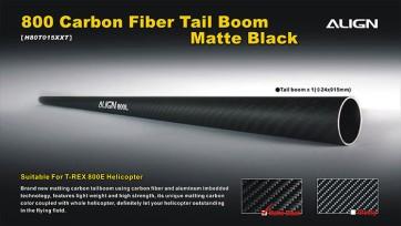 H80T015XX 800E Carbon Fiber Tail Boom-Matte Black