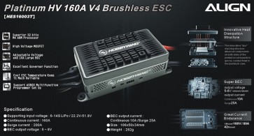 HES16003 RCE-BL160A Brushless ESC