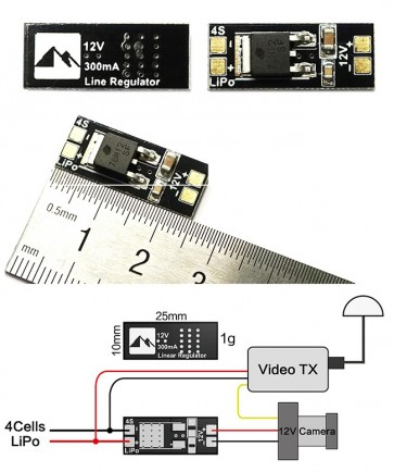 Matek Linear Regulator 4S to 12V
