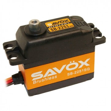 Savox SB-2251SG Speed & Torque 6.0V Brushless SAXSB-2251SG