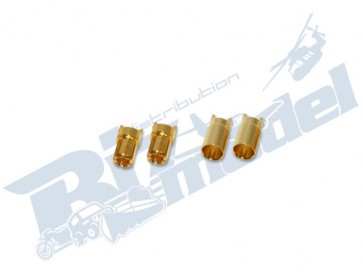 6mm gold plated connector CW103