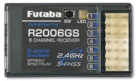 RX R2006GS   6 CH   2,4 GHz FHSS F1006