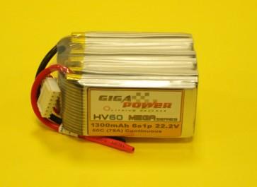 GP1300HV6S 22.2V 1300mAh 6Cell 60C continui