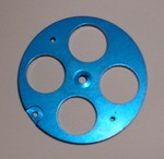 H1110B Futaba 45mm Pull-Pull Wheel - BLUE