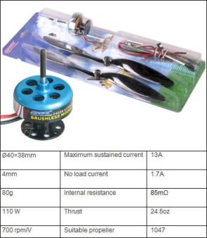 301303F Brushless combo power system 110w  elica nera