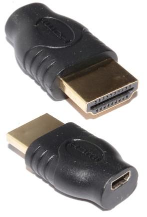 HDMI Micro D Female Socket to Standard HDMI Plug Adapter Converter