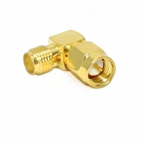 RF Sma Connector  Male to SMA Female Jack Right Angle(R/A) Gold Adaptor