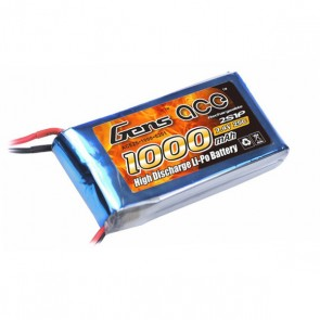 B-25C-1000-2S1P Gens ace 1000mAh 7.4V 25C 2S1P Lipo Battery Pack