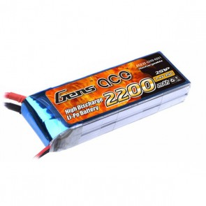 B-25C-2200-2S1P Gens ace 2200mAh 7.4V 25C 2S1P Lipo Battery Pack