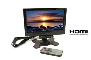 """MONITOR LCD 7"""" POLLICI  HDMI HD AV CON TELECOMANDO"""