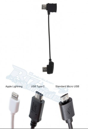 Mavic Part4 RC Cable Reverse Micro USB connector