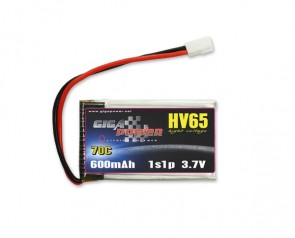 GP600HV1S GigaPower 3.7V 600mAh 70C 1cell