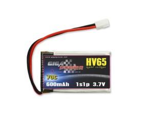 GP600HV1S GigaPower 3.7V 600mAh 70C 1cell
