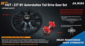 H70G012XX 102T M1 Helical Autorotation Tail Drive Gear Set