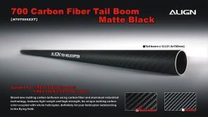 H70T005XX 700 Carbon Fiber Tail Boom-Matte Black