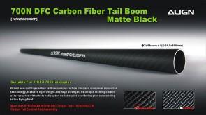 H7NT006XX 700N DFC Carbon Fiber Tail Boom-Matte Black