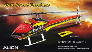 HF4506 450L Speed Fuselage – Red & Yellow