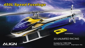 HF4509 450L Speed Fuselage - White & Blue