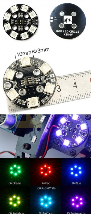 Matek RGB LED CIRCLE X8/16V