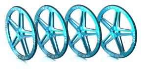 SK-600069-07 1/10 Set-Up Wheel (Blue)