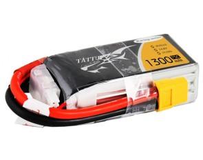 TA-75C-1300-4S1P-R Tattu 1300mAh 14.8V 75C 4S1P Lipo Battery
