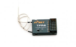 FrSky 7ch FASST compatible receiver, top pin version TFR6