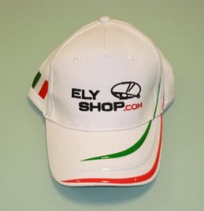CAP10 Cappellino National Ricamato Elyshop colore Bianco