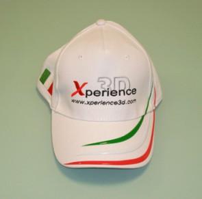 CAP12 Cappellino National Ricamato Xperience colore Bianco