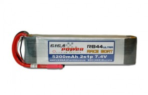GP5200RB44 RACE BOAT ULTRA 7,4V 5200mAh 44C