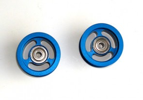RT-06B Tail Drive Belt Guide Pulleys (2) BLUE