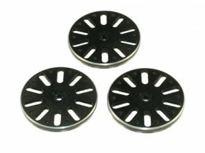 TXC-081-BK TREX 600/700 Push-Pull Servo Wheel Set - JR Black