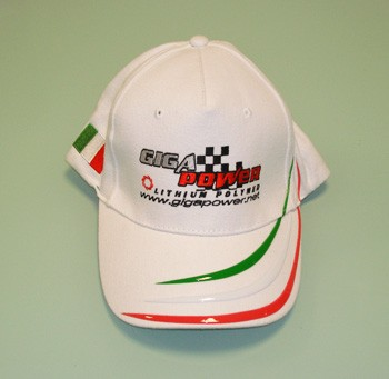 CAP11 Cappellino National  Ricamato GIGA POWER colore Bianco