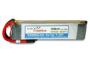 GP5200RBU 7,4V 5200mAh 2Cell RaceBoat Ultra 41C continui